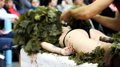 Masseur doing massage Stock Footage