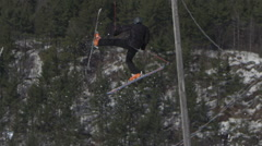 Stock Video Footage of Epic Crash on Ski Jump - Huge fail and athlete falling.