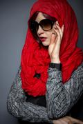 Head Scarf or Modern Hijab Fashion - stock photo
