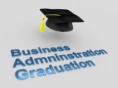 Business Administration Graduation concept - stock illustration