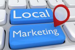 Local Marketing concept - stock illustration
