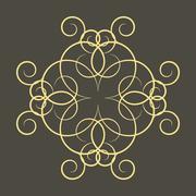 A circular ornament, vector illustration. - stock illustration