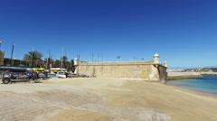 Medieval Forte da Bandeira in Lagos in the Algarve Portugal Stock Footage