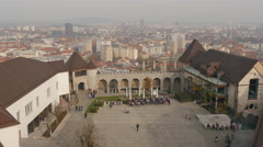 Relaxing day at the Ljubljana Castle - Ljubljana Stock Footage