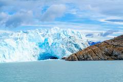 Perito Moreno Glacier at Argentino lake Stock Photos