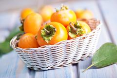 persimmon - stock photo