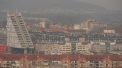 View of the Grey Triangle in Ljubljana Stock Footage