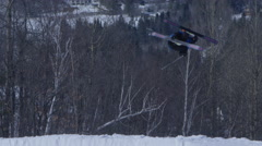 Stock Video Footage of Ski Back Flip on big jump - Extreme Sports