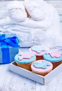 a feast in honor of the birth of the child - stock photo