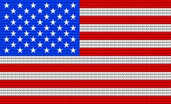 USA flag embroidery design pattern Stock Illustration