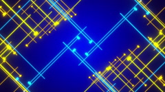 blue abstract background, moving blue and gold line, loop - stock footage