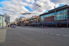 Moscow, Russia - March 14, 2016. General view of  street Novoryazanskaya - stock photo