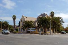 colonial German architecture in Swakopmund - stock photo