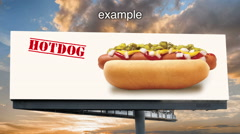 Billboard with  a Cloud Time-lapse in the Background - stock footage