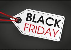 Price Sticker Black Friday Dark Background Stock Illustration