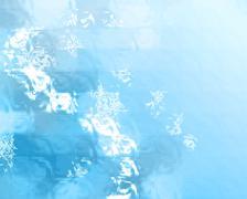 Blue winter bokeh background Piirros