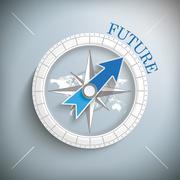 Compass Future Stock Illustration