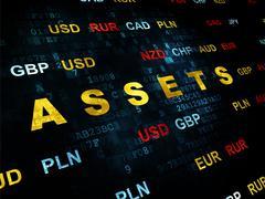 Banking concept: Assets on Digital background Stock Illustration