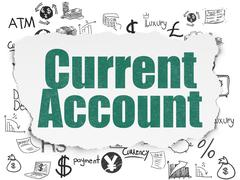 Money concept: Current Account on Torn Paper background - stock illustration