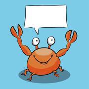 Cartoon Crab Speech Bubble Stock Illustration