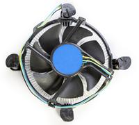CPU fan with aluminum radiator Stock Photos