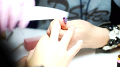 Manicure process, nails, close-up,  Stock Footage