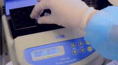Thermostat incubator for PCR microtubes Stock Footage