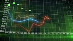 Colorful financial graph showing a increasing tendency Stock Footage