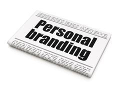 Marketing concept: newspaper headline Personal Branding Stock Illustration