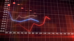 Financial bar chatrs and curves showing increasing profits. Stock Footage