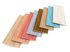 Multi colored parquet flooring boards - stock illustration