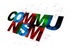 Politics concept: Communism on Digital background - stock illustration