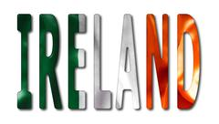 Ireland Word With Flag Texture Piirros