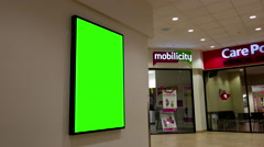 Green billboard for your ad on wall with 4k resolution Stock Footage