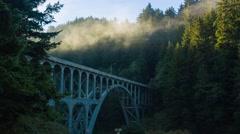Cape Creek Bridge Stock Footage