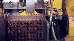 Metall cutting. Automated industrial machine Stock Footage