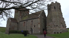 Dover Castle England St Mary in Castro Church 4K Stock Footage