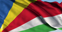 Ultra realistic looping flag: Seychelles - stock footage