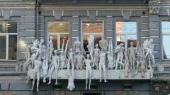 Original Window Dressing Mannequins Stock Footage