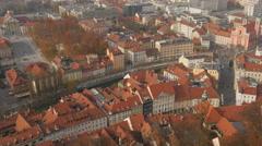 Static view of the western side of Ljubljana from Castle Hill - Ljubljana Stock Footage