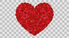 Wedding Video Background Loop 06 Heart Shape Petal - stock footage