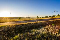 Grassland scenery in Hebei province, China - stock photo