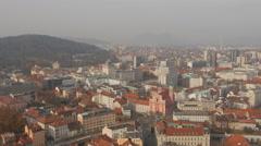 City view of Ljubljana capital city Stock Footage