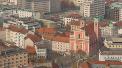 Franciscan Church of the Annunciation in Ljubljana Stock Footage