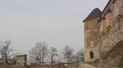 Shot of a Ljubljana's Castle tower Stock Footage