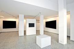 Stock Photo of exhibition gallery with museum style lighting