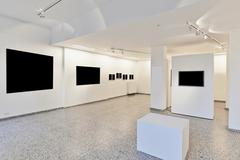 exhibition gallery with museum style lighting - stock photo