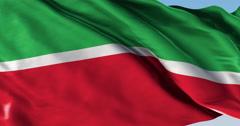 Ultra realistic looping flag: Tatarstan Stock Footage