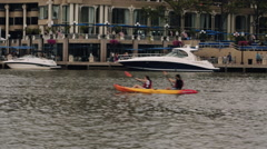 Kayak on the Potomac in DC Stock Footage