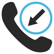 Incoming Call Flat Vector Pictogram Stock Illustration